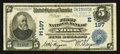 National Bank Notes:Pennsylvania, York, PA - $5 1902 Date Back Fr. 590 The First NB Ch. # (E)197. ...