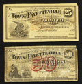 Obsoletes By State:Arkansas, Fayetteville, AR- Town of Fayetteville 25¢ 1872 Rothert 193-1. Fayetteville, AR- Town of Fayetteville 50¢ 1872 Rothert 1... (Total: 2 notes)