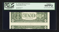 Error Notes:Inverted Reverses, Fr. 1933-H $1 2006 Inverted Reverse Federal Reserve Note. PCGS GemNew 66PPQ.. ...