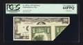 Error Notes:Foldovers, Fr. 2072-L $20 1977 Federal Reserve Note. PCGS Very Choice New64PPQ.. ...