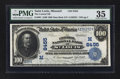 National Bank Notes:Missouri, Saint Louis, MO - $100 1902 Date Back Fr. 691 The Central NB Ch. #(M)8455. ...