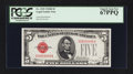 Small Size:Legal Tender Notes, Fr. 1529 $5 1928D Legal Tender Note. PCGS Superb Gem New 67PPQ.. ...