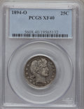 Barber Quarters: , 1894-O 25C XF40 PCGS. PCGS Population (7/102). NGC Census: (0/123).Mintage: 2,852,000. Numismedia Wsl. Price for problem f...
