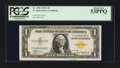 Scarce F-C Block Fr. 2306 $1 1935A North Africa Silver Certificate. PCGS About New 53PPQ