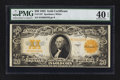 Large Size:Gold Certificates, Fr. 1187 $20 1922 Gold Certificate PMG Extremely Fine 40 EPQ.. ...