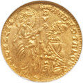 Italy, Italy: Venice. Andrea Contanni gold Ducat ND (1368-82),...
