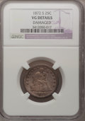 Seated Quarters: , 1872-S 25C --Damaged--NGC Details. VG. NGC Census: (0/17). PCGSPopulation (1/22). Mintage: 83,000. Numismedia Wsl. Price fo...