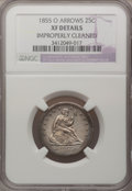 Seated Quarters: , 1855-O 25C Arrows--Improperly Cleaned--NGC Details. XF. NGC Census:(3/17). PCGS Population (3/8). Mintage: 176,000. Numism...