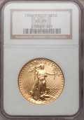 Modern Bullion Coins: , 1986 G$50 One-Ounce Gold Eagle MS69 NGC. NGC Census: (5622/301).PCGS Population (3035/21). Mintage: 1,362,650. Numismedia ...