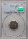 Bust Dimes, 1834 10C Small 4 VF35 PCGS. CAC. PCGS Population (3/172). NGCCensus: (3/259). Mintage: 635,000. Numismedia Wsl. Price for ...