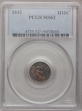 Seated Half Dimes: , 1845 H10C MS62 PCGS. PCGS Population (25/107). NGC Census:(20/111). Mintage: 1,564,000. Numismedia Wsl. Price for problem ...