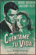 """Movie Posters:Hitchcock, Spellbound (United Artists, R-1950s). Argentinean Poster (26.5"""" X40""""). Hitchcock.. ..."""