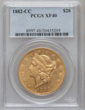 Liberty Double Eagles: , 1882-CC $20 XF40 PCGS. PCGS Population (67/548). NGC Census:(44/778). Mintage: 39,140. Numismedia Wsl. Price for problem f...