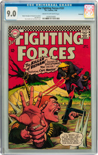 Our Fighting Forces #101 Savannah pedigree (DC, 1966) CGC VF/NM 9.0 Cream to off-white pages