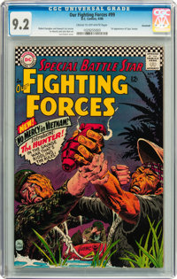 Our Fighting Forces #99 Savannah pedigree (DC, 1966) CGC NM- 9.2 Cream to off-white pages