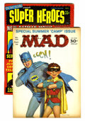 Magazines:Mad, Mad #105 and On the Scene Presents Superheroes #1 (EC/Warren,1966).... (Total: 3 Comic Books)