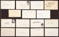 Baseball Collectibles:Others, Baseball Legends Signed Index Cards Lot of 15....