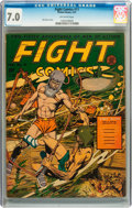 Golden Age (1938-1955):Science Fiction, Fight Comics #11 (Fiction House, 1941) CGC FN/VF 7.0 Off-whitepages....