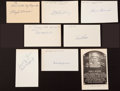 Baseball Collectibles:Others, Baseball Legends Signed Memorabilia Lot of 7....