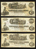 Confederate Notes:1862 Issues, Reissued Houston T39 and More.. ... (Total: 3 notes)