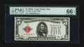 Small Size:Legal Tender Notes, Fr. 1526 $5 1928A Legal Tender Note. PMG Gem Uncirculated 66 EPQ.. ...