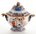 Ceramics & Porcelain, Whoopi Goldberg collection. MASON'S IRONSTONE SOUP TUREEN WITH COVER . England, 19th century. Marks: MASONS PATENT I... (Total: 2 Items)