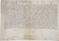 "Autographs:Non-American, [Pope Paul V] 1611 Vellum Papal Breve. One page, on vellum, 19"" x13"", in Latin, signed ""P"", ""pp"" (for""perpetuum..."