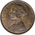 Hong Kong: , Hong Kong: Victoria Cent 1866, KM4.1, MS65 Red & Brown PCGS, the obverse displays glossy surfaces with some luster in the legends while...