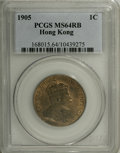 Hong Kong: , Hong Kong: Edward VII Cent 1905, KM11, MS64 Red & Brown PCGS, a nice lustrous example of this scarcer date....
