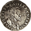 Italy: , Italy: Milan. Ducatone 1579, Dav-A8309. Struck in Renaissance Italyfor Philip II of Spain (1556-98). Bearded portrait in fancy ruf...