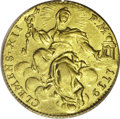 Italy: , Italy: Papal States. Clement XII gold Zecchino 1739, KM888, Berman2607, Fr-222, AU55 PCGS, fully struck with glowing mint luster, ...