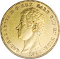 Italy: , Italy: Sardinia. Carlo Alberto gold 50 Lire 1836P Eagle, KM-C116.1,AU53 ICG, an original coin with luster traces in the legends. R...