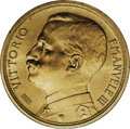 Italy: , Italy: Vittorio Emanuele III gold 20-Lire 1912-R, KM-48, rare, andthis one is a delightful Choice UNC with a great strike, super-c...