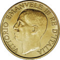 Italy: , Italy: Vittorio Emanuele III gold 20-Lire 1923-R, KM-64, veryscarce 1-year type, Choice AU-UNC, fine gold color and frostyluster....