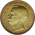 Italy: , Italy: Vittorio Emanuele III gold 50-Lire 1911-R, KM-54, XF45 ICG,very scarce with a mintage of just 20,000 pieces to celebrate, i...