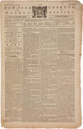 """Miscellaneous:Newspaper, Newspaper: 1775 Edition of The New York Gazette and WeeklyMercury - """"Resolved unanimously, That this Convention m..."""
