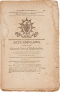 "Miscellaneous:Booklets, [Massachusetts General Assembly] ""Acts and Laws Passed by theGeneral Court of Massachusetts"", 1801. 34 pages (paginated 483..."