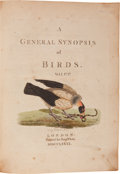 Books:Color-Plate Books, John Latham. A General Synopsis of Birds. In three volumes. Volume I: London: Benjamin White, 1781. Volume II & III:... (Total: 3 Items)