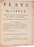 Books:First Editions, [Colley Cibber]. Plays Written by Mr. Cibber. London: JacobTonson, et al., 1721. First edition. Two large quarto vo... (Total:2 Items)