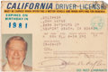 Movie/TV Memorabilia:Memorabilia, The Last Driver's License, 1977....