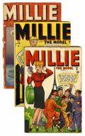 Golden Age (1938-1955):Romance, Millie the Model #9, 14, and 18 Group (Atlas/Marvel, 1946-47).... (Total: 3 Comic Books)