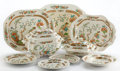 Ceramics & Porcelain, Whoopi Goldberg Collection. SIXTY-EIGHT PIECE COPELAND PARTIAL DINNER SERVICE IN THE INDIAN TREE PATTERN. ...