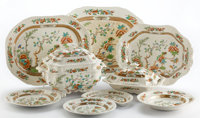 Whoopi Goldberg Collection  SIXTY-EIGHT PIECE COPELAND PARTIAL DINNER SERVICE IN THE INDIAN TR