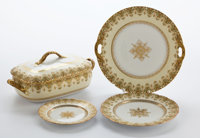 Whoopi Goldberg Collection  TWENTY-TWO PIECE CHARLES ARHENFELDT LIMOGES PORCELAIN PARTIAL DINNER SERVICE