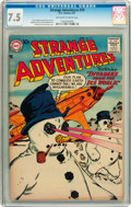 Silver Age (1956-1969):Science Fiction, Strange Adventures #79 (DC, 1957) CGC VF- 7.5 Off-white to whitepages....