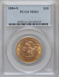 Liberty Eagles: , 1884-S $10 MS61 PCGS. PCGS Population (81/85). NGC Census:(146/57). Mintage: 124,250. Numismedia Wsl. Price for problem fr...