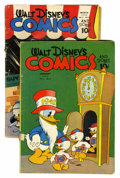 Golden Age (1938-1955):Cartoon Character, Walt Disney's Comics and Stories #28 and 30 Group (Dell, 1943)....(Total: 2 Comic Books)