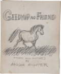Miscellaneous:Ephemera, Mischa Richter. Artist's Original Mock-ups of Geedyup andFriend, in Pencil and in Ink, including: Mock-up boo... (Total:2 Items)