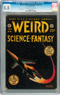 Golden Age (1938-1955):Science Fiction, Weird Science-Fantasy Annual #2 (EC, 1953) CGC FN- 5.5 Cream tooff-white pages....