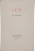 Books:Signed Editions, D. H. Lawrence. Sun. Paris: The Black Sun Press, 1928. Firstunexpurgated edition, limited to 150 copies on Holl...